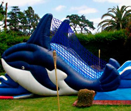913fafea5 Inflable Tobog?n Las Orcas( Juego Grande). Apta para niños y adultos. Para  el jardín o pileta. Medidas: 6x3 metros.